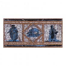 Вставка-подступенник  Cadagues Azul Natural 12x25