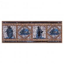 Вставка-подступенник  Cadagues Azul  Natural 12x33