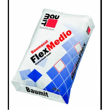Baumit Baumacol FlexMedio Плиточный клей - толстослойный повышенной прочности -4-15мм