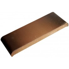 Керамическая парапетная плитка, цвет каштановый КР 20 (190х110х25 мм.)
