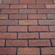 Тротуарный клинкерный кирпич - состаренный Kerawil Keratique Rot-Blau-Bunt 200х100х52
