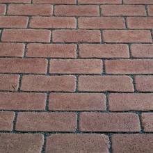 Тротуарный клинкерный кирпич - состаренный Kerawil Keratique Braun 200х100х45